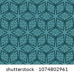 seamless pattern fashion... | Shutterstock .eps vector #1074802961