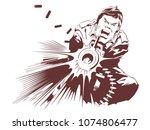 stock illustration. military... | Shutterstock .eps vector #1074806477