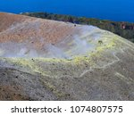 sulphur gas coming out of the... | Shutterstock . vector #1074807575