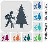 hiking icon illustration...   Shutterstock .eps vector #1074813119