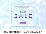 summer sale card. vector... | Shutterstock .eps vector #1074813167