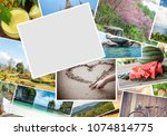save photos and memories from... | Shutterstock . vector #1074814775