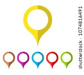 map pin vector icon isolated on ... | Shutterstock .eps vector #1074816491