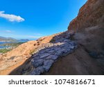 hiking path on the volcano of... | Shutterstock . vector #1074816671
