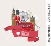 england travel vector...   Shutterstock .eps vector #1074817694