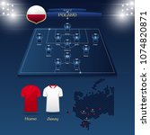 team poland soccer jersey or... | Shutterstock .eps vector #1074820871