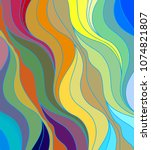 abstract vector color... | Shutterstock .eps vector #1074821807