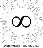 vector infinity sign against...   Shutterstock .eps vector #1074829469