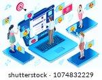 correspondence and modern...   Shutterstock .eps vector #1074832229