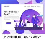 landing page template of our... | Shutterstock .eps vector #1074838907