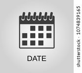 date icon. date symbol. flat... | Shutterstock .eps vector #1074839165
