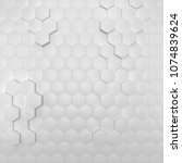 abstract hexagon 3d background... | Shutterstock . vector #1074839624