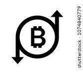 bitcoin sign icon   Shutterstock .eps vector #1074840779