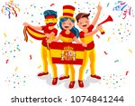 russia 2018 world cup  spain... | Shutterstock .eps vector #1074841244