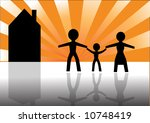silhouette of a happy family... | Shutterstock .eps vector #10748419