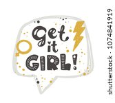 get it girl. logo  icon and... | Shutterstock .eps vector #1074841919