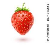 strawberry realistic icon ... | Shutterstock .eps vector #1074846551