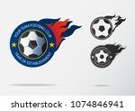 soccer logo or football badge... | Shutterstock .eps vector #1074846941