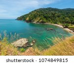 beautiful bay on the island | Shutterstock . vector #1074849815