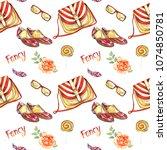 fancy accessories  striped...   Shutterstock . vector #1074850781