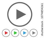play button. vector icon. | Shutterstock .eps vector #1074854261