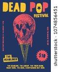 dead pop festival gig poster... | Shutterstock .eps vector #1074856451