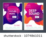 deep sound. abstract poster for ... | Shutterstock .eps vector #1074861011