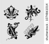 extreme sport. vintage embleme... | Shutterstock .eps vector #1074861014