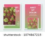 strawberry pattern design... | Shutterstock .eps vector #1074867215