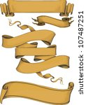 ribbon banners engraving style. ... | Shutterstock .eps vector #107487251