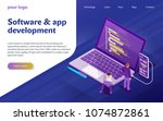 development of software and... | Shutterstock .eps vector #1074872861
