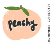 peachy. sticker for social... | Shutterstock .eps vector #1074877679