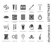 contraceptive method flat glyph ... | Shutterstock .eps vector #1074879689