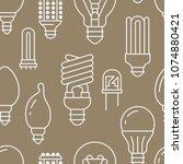 light bulbs seamless pattern... | Shutterstock .eps vector #1074880421