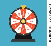 wheel of fortune lottery luck... | Shutterstock .eps vector #1074882245