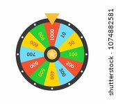 colorful wheel of fortune... | Shutterstock .eps vector #1074882581