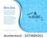 vector summer holidays party... | Shutterstock .eps vector #1074884201