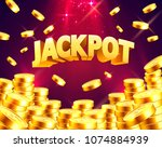 jackpot in the form of gold... | Shutterstock .eps vector #1074884939