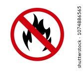 no fire symbol  vector...   Shutterstock .eps vector #1074886565