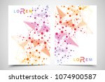 scientific brochure design... | Shutterstock .eps vector #1074900587
