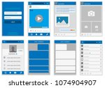 social network mock up  post... | Shutterstock .eps vector #1074904907