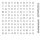 cancer icon set. collection of... | Shutterstock .eps vector #1074912311