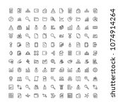 business icon set. collection... | Shutterstock .eps vector #1074914264