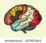 human brain lateral view | Shutterstock . vector #107491661