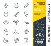 lineo editable stroke   medical ... | Shutterstock .eps vector #1074921101