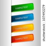 stickers with text | Shutterstock .eps vector #107492279