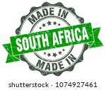 made in south africa round seal | Shutterstock .eps vector #1074927461