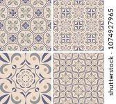 vector set of ornaments for... | Shutterstock .eps vector #1074927965