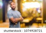 african american man with beard ... | Shutterstock . vector #1074928721