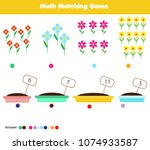 math educational game for... | Shutterstock .eps vector #1074933587